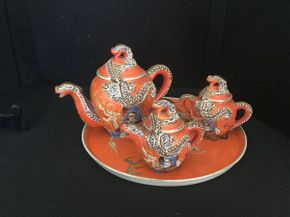 Lot 002 Japanese Dragonware Tea Service  ITEMS TO BE PICKED UP IN OCEANSIDE