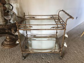 Lot 004 Tea Cart Faux Bamboo 29x19.5x29ITEMS TO BE PICKED UP OCEANSIDE