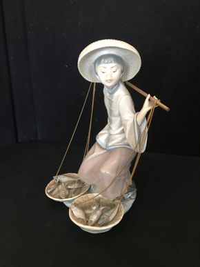 Lot 006 Retired Lladro Figurine Fish Of Plenty Chinese in the Market