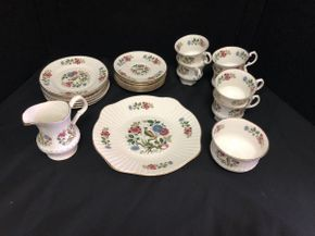 Lot 056 Lot Of Assorted Royal Tara China Tea Cups, Saucers. AS IS Chip On One Of Saucers. PICK UP IN FLUSHING.