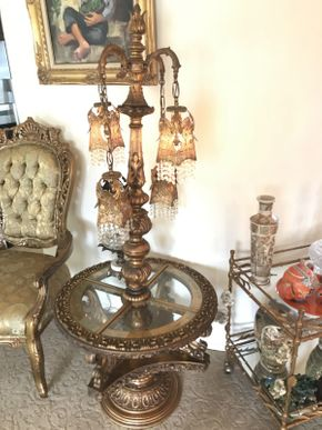 Lot 016 Moroccan Style Lamp Table 64x24 ITEMS TO BE PICKED UP IN OCEANSIDE