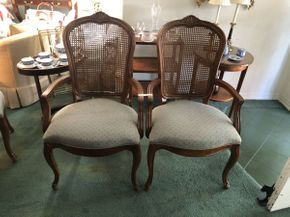 Lot 061 Lot Of Two Century Cane Arm Chairs 41.25 H X 20.5 W  X 23.5 L. PICK UP IN FLUSHING.