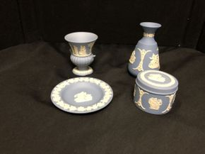 Lot 065 Lot Of Assorted Wedgewood Accessories. PICK UP IN FLUSHING.