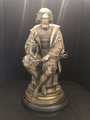 Lot 026 Bronze Statue Carrier Bent Sword 19x10 ITEMS TO BE PICKED UP IN OCEANSIDE