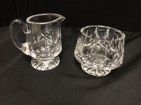Lot 070 Lot Of Waterford Crystal Creamer 4 Inches H. Sugar Bowl 3.5 Inches H. PICK UP IN FLUSHING.