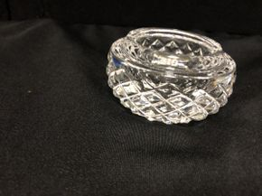 Lot 072 Waterford Crystal Ashtray 2 Inches H. PICK UP IN FLUSHING.