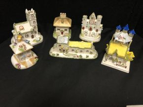 Lot 073 Lot Of Seven Assorted Coolport China Houses. PICK UP IN FLUSHING.