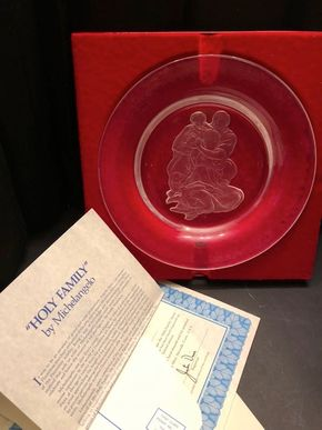 Lot 022 The Danbury Mint Holy Family By Michelangelo Full Lead Crystal Collector Plate