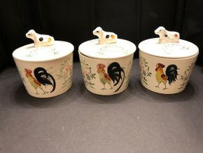 Lot 005 Lot of 3 Vintage Rooster Decor Cookie Jars