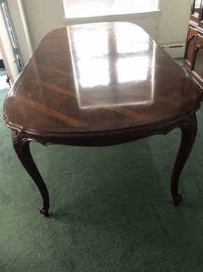 Lot 060 Century French Provincial Table 29.5 H X 43.5 W X 98.5 L. PICK UP IN FLUSHING.