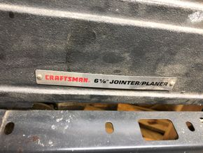 Lot 016 Craftsman 6 1/8 Jointer/Planier PICK UP IN GARDEN CITY