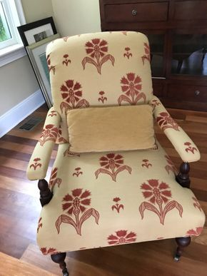 Lot 044 Baker Milling Road Collection Fabric Chair Wih Wheels 39H x 30W x 30L PICK UP IN LAWRENCE