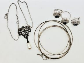 Lot 020 Pd/will PUP Lot of Sterling Silver Jewelry PICK UP IN GARDEN CITY,NY
