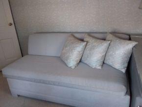 Lot 034 Castro Convertible Microfiber Sofa bed 29 x 35 x 67 PICK UP IN ROCKVILLE CENTRE