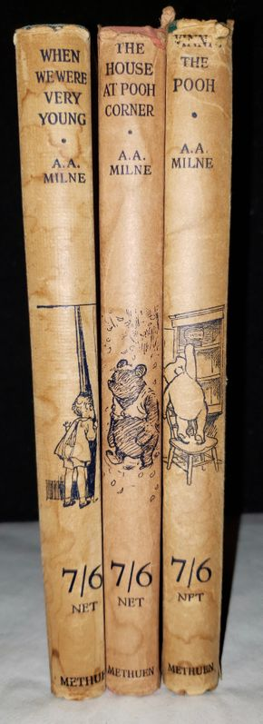 Lot 013 Lot of 3 Vintage POOH Books By A.A. Milne Decorations By E.H. Shepard PICK UP IN MINEOLA,NY