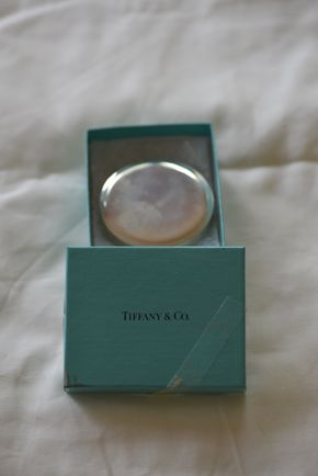 Lot 024 Local Delivery Tiffany Co. Sterling Silver Mirror Compact PICK UP IN PORT WASHINGTON, NY