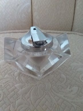 Lot 025 Villeroy and Boch Cut Glass 60s Style Coffee Table Ronson Electric Ignition Cigarette Lighter 2 x 4 PICK UP IN N MASSAPEQUA