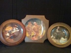 Lot 097 Lot of 3 Norman Rockwell Framed Plates PICK UP IN ROCKVILLE CENTRE
