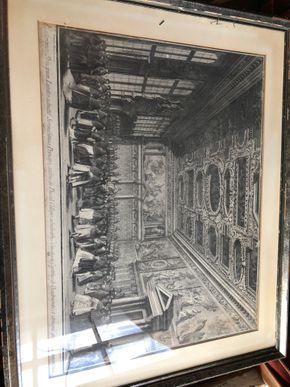 Lot 080 Antique Ingraving Print W/FRAME 27W X 22H