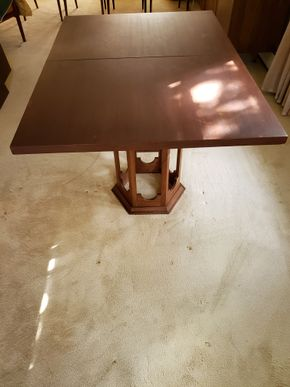 Lot 015 PU Mid-Century Dining Table 29.25H x 60W 42D w/ 2- Leafs 42x15 PICK UP IN GREAT NECK,NY