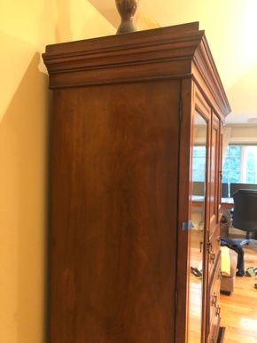 Lot 017 Mirrored Armoire PICK UP IN PORT WASHINGTON