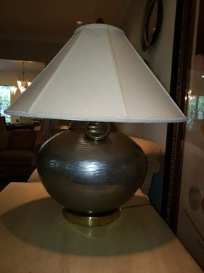 Lot 002 Metal Table Lamp 26H PICK UP IN HEWLETT,NY