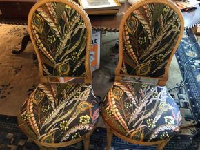 Lot 007 Lot of 4 Upholstered Dining Chairs 40H x 20W