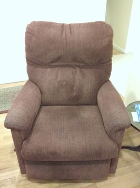 Lot 022 Upholsteed Lazy Boy Recliner 37 x 36 x 30 PICK UP IN OCEANSIDE