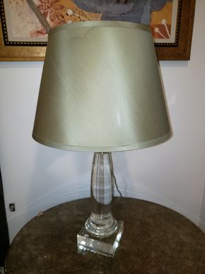 Lot 011 Lucite Table Lamp 31H  PICK UP IN HEWLETT,NY