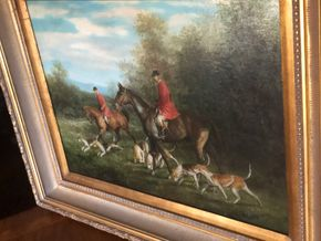 Lot 029 Decorative 20th Century Oil on canvas Signed W. Larsen 32W x 26.5H with frame PICK UP IN RVC