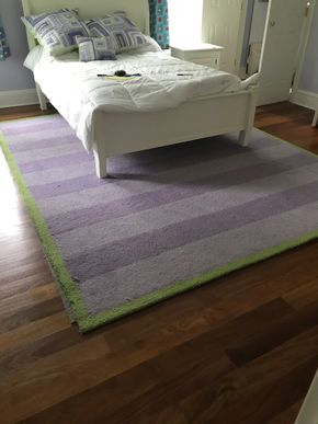 Lot 084  Pottery Barn Striped Rug 8x10 PICK UP IN LAWRENCE