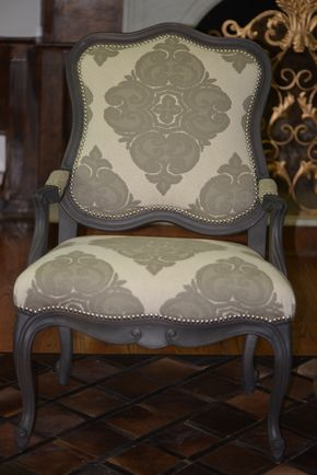 Lot 007 ARHAUS Upholstered Armchairs Lot of 2 40H x 27W x 23D PICK UP IN PORT WASHINGTON,NY