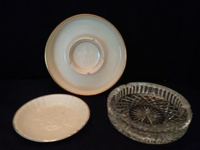 Lot 087 Lot of Ashtrays Waterford and Lenox PICK UP IN ROCKVILLE CENTRE