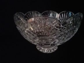 Lot 044 SCALLOPED WATERFORD BOWL 6Hx 10W PICK UP IN N BALDWIN