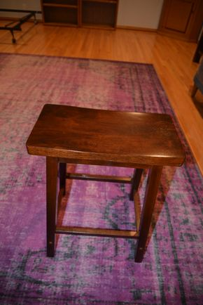 Lot 022 WOODEN STOOL 24W X 9W X 17.5L PICK UP IN PORT WASHINGTON