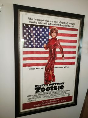 Lot 001 Framed Tootsie Movie Poster 59Hx 39W PICK UP IN HEWLETT,NY