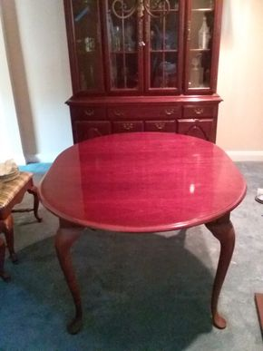 Lot 046 Mahogany Dining Room Table With Pads 29H x 42x 54L PICK UP IN WEST HEMPSTEAD