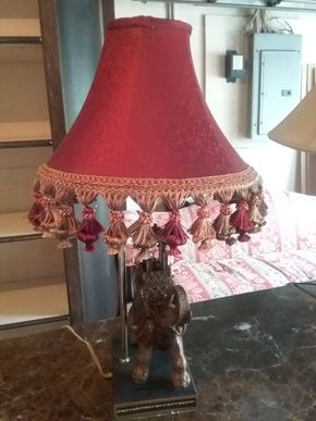 Lot 016 Decorative Elephant Table Lamp 24.5 Inches Tall PICK UP IN ROCKVILLE CENTRE