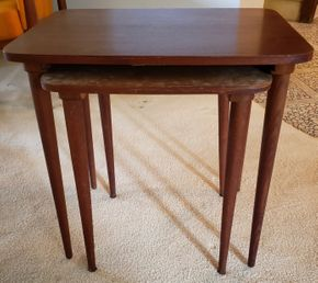 Lot 005 Mid Century Nesting Tables 19H x 18.75W x 14D PICK UP IN GREAT NECK, NY