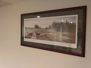 Lot 014 Framed Signed Golf Print  of Newtonmountkennedy County Wicklow Ireland 42x22 PICK UP IN OCEANSIDE