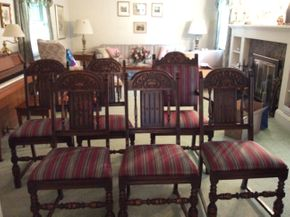 Lot 080 Lot Of 6 Chairs 39H x 17.5 W x 20L PICK UP IN GARDEN CITY