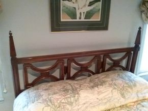 Lot 123 Full Size Head Board 48.5 Inches Tall PICK UP IN OLD BROOKVILLE