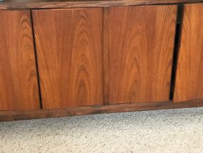 Lot 003 Mid Century Modern Stereo Console 18d x 96L x 33H PICK UP IN RVC