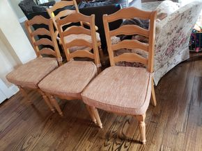 Lot 033 Dining Side Chairs w/Upholstered Seat Lot of 6 40H x 20.5W x 19.5L PICK UP IN MALVERNE,NY