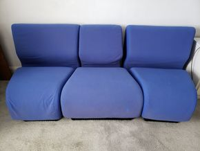 Lot 020 Vintage Herman Like Miller Chadwick Modular Seating Lounge 3 sections 26H x 21.5 x29.5L PICK UP IN WHITESTONE, NY