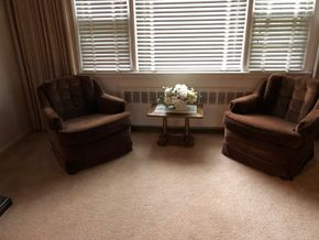 Lot 038 Pair of brown Velvet Bucket chairs AS IS 31W x 23H x 28D PICK UP IN RVC