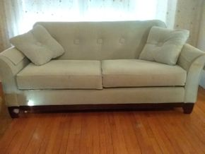 Lot 012 Lazy Boy Modern Upholstered Sofa 36H x 36W x 84L PICK UP IN WEST HEMPSTEAD