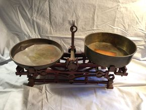 Lot 008 Antique Balance Scale  17L x 11H x 7D