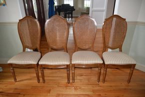 Lot 006 Lot of 4 Dining Side Chairs/Upholstered Seating 43H x 19W x 17L PICK UP IN MALVERNE,NY