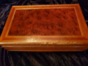 Lot 030 Lot of 2 Wood Jewelry Boxes 1. London Leather Lined has Metal Hooks / 2. Mirror and Lined PICK UP IN FOREST HILLS,NY